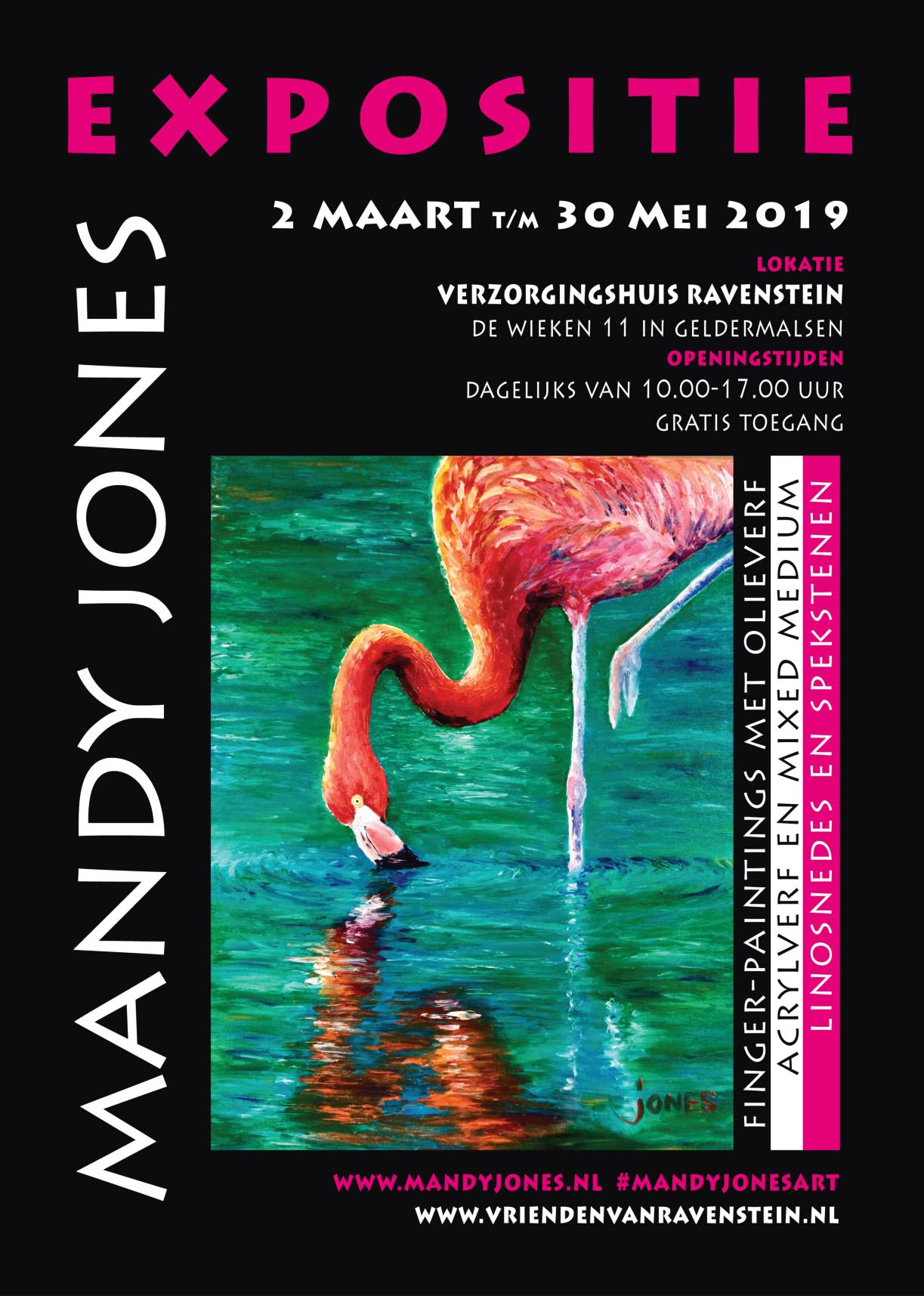expositie Mandy Jones bij Ravenstein in Geldermalsen